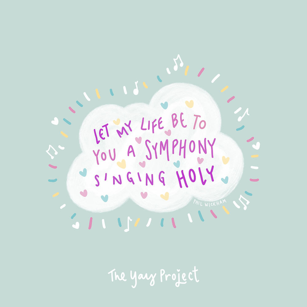 pastel colorful Phil Wickham worship lyrics graphic by The Yay Project Jenni Lien