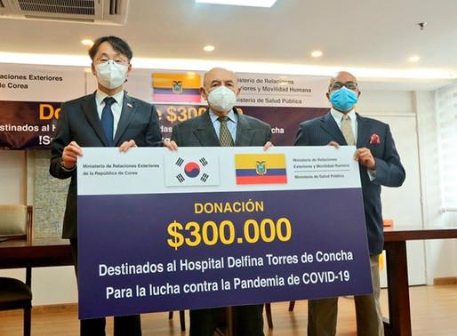 Corea dona al país USD300.000 para insumos médicos