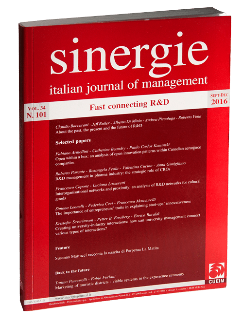 Sinergie Italian Journal of Management