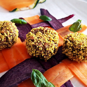 Mint Lentil Meatballs cooked in the oven