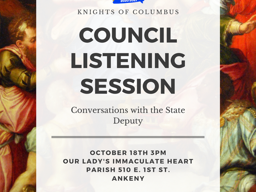 Ankeny Listening Session tomrrow!