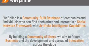 WeSpline.com além de uma rede social e um grande mecanismo de busca no ecossistema de Startups.