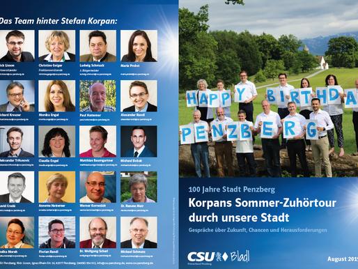 Korpans Sommer-Zuhörtour - Gespräche über unsere Stadt im neuen CSU Bladl