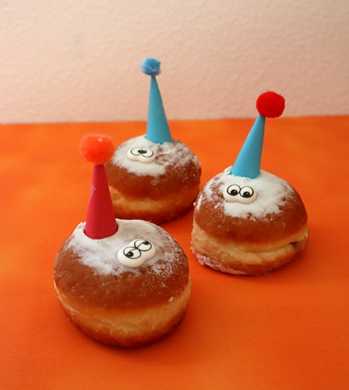 Lustige Berliner als Geburtstagsessen für die Schule / Kita