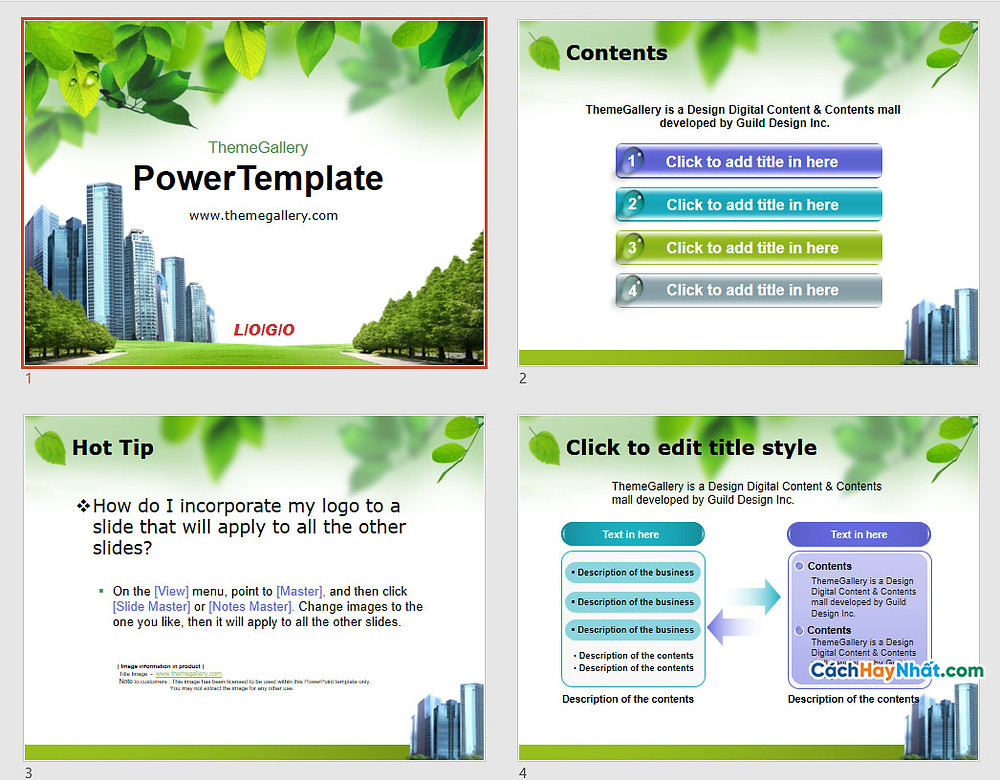 PowerPoint Template 578TGp_CleanCity_light