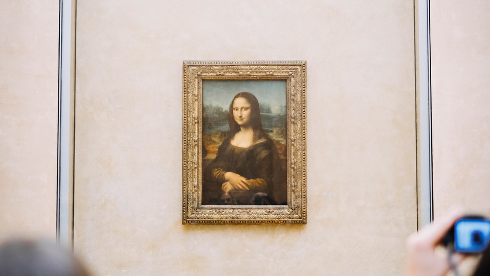 Leonardo da Vinci's Mona Lisa at the Louvre in Paris, France