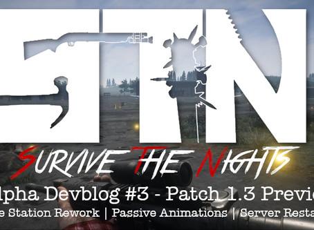 Alpha Devblog #3- Patch 1.3 Preview (Police Station Rework | Passive Animations | Server Restarts)