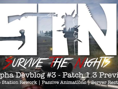 Alpha Devblog #3- Patch 1.3 Preview (Police Station Rework   Passive Animations   Server Restarts)