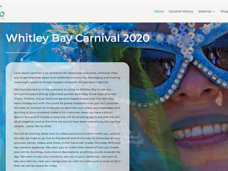 Lock-down Carnival in Whitley Bay 2020