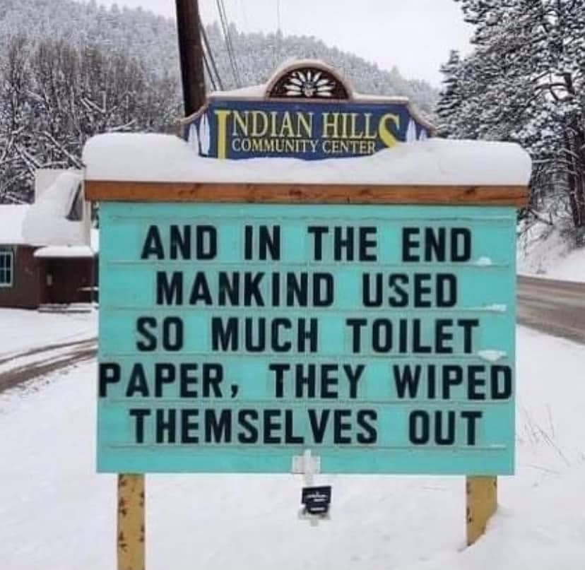 Funny Toilet Paper Sign Meme