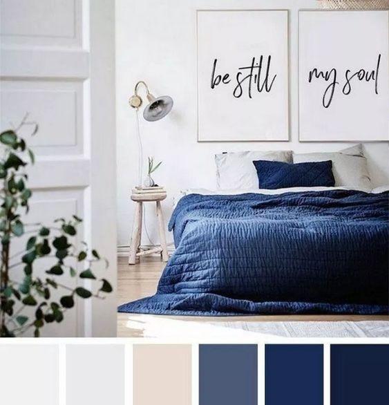 Dormitorio decoracion classic Blue Pantone