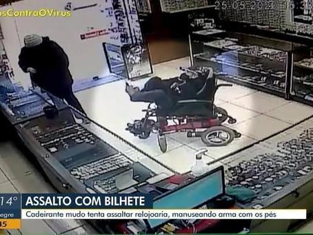 Assaltante cadeirante e mudo é pego na cidade de Canela/RS