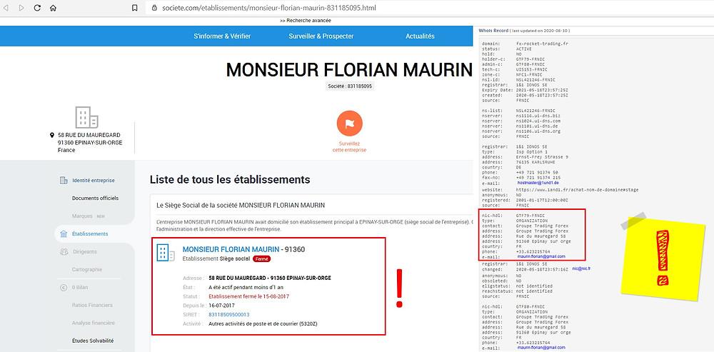 Florian MAURIN fraude