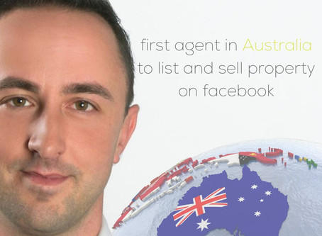 First agent in Australia to list & sell real estate on Facebook