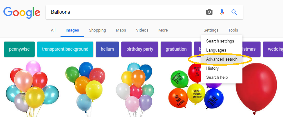 Google Image Advanced Search