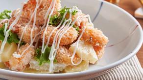 菠蘿沙律蝦餅