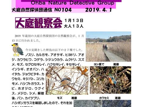 大庭自然探偵団通信 No.105