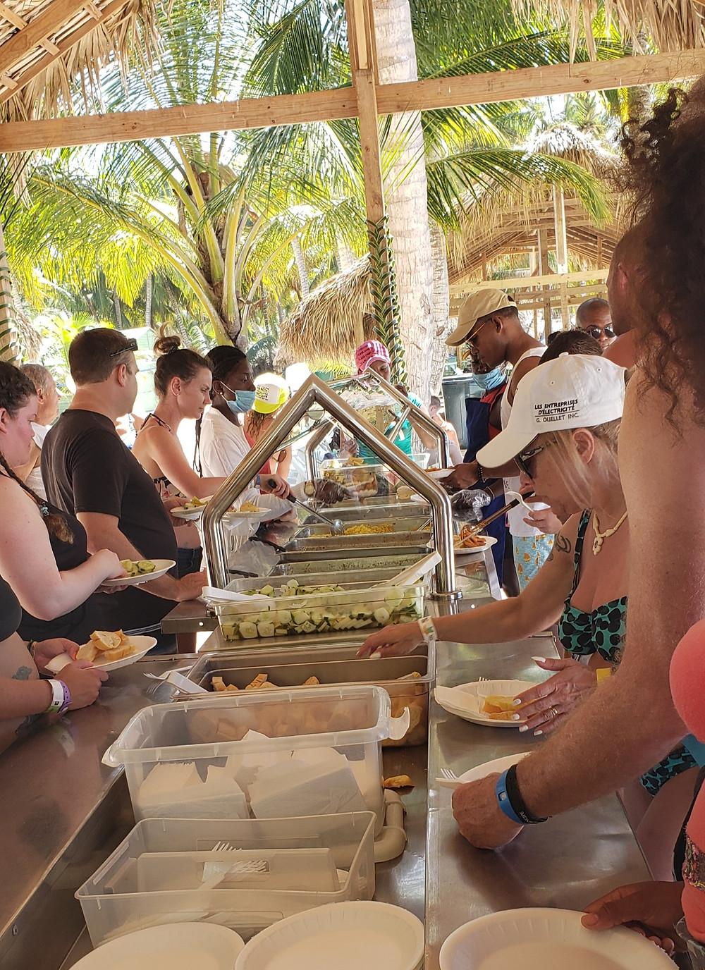 Almoço Ilha Saona