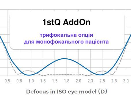 1stQ AddOn®: нова модель застосування добре відомої ІОЛ.
