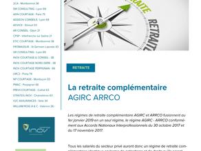 Réforme des régimes de retraite AGIRC et ARRCO