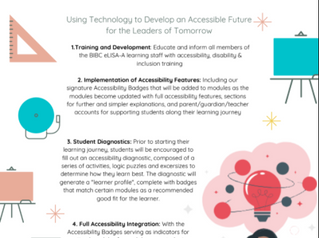 eLISA-A: Developing an Accessible Future Today, for the Leaders of Tomorrow