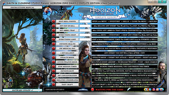cloudend studio, Horizon Zero Dawn Complete Edition, Cheats, Trainer, Mode, Codes, Save, Cheat Happens, Fling Trainer, Wemod,