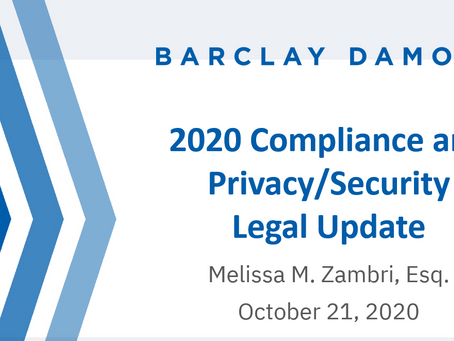 2-Presentation - 2020 Compliance and Privacy_Security Legal Update