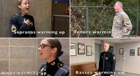 US Army officers troll voice part warm-ups in a very accurate parody