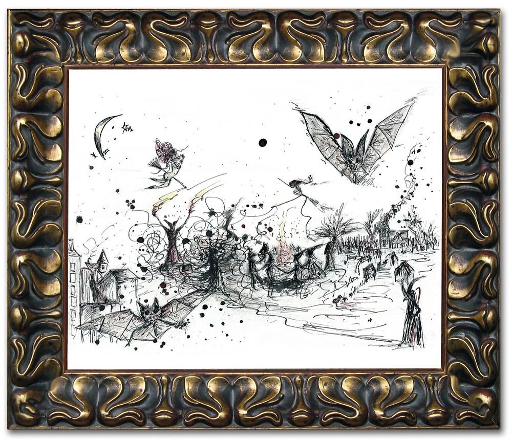 Walpurgisnacht | Witches | Brocken | Faust | Morvenna | Gothic Art | Witch Print | Witch Poster
