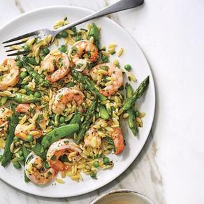 Shrimp & Orzo Salad with Lemon Dressing