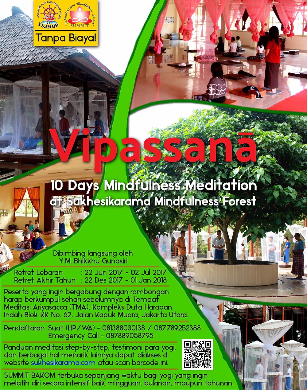 Retret Meditasi Vipassana 2017 - 10 hari