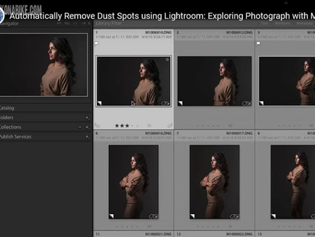 Using Lightroom to remove dust spots