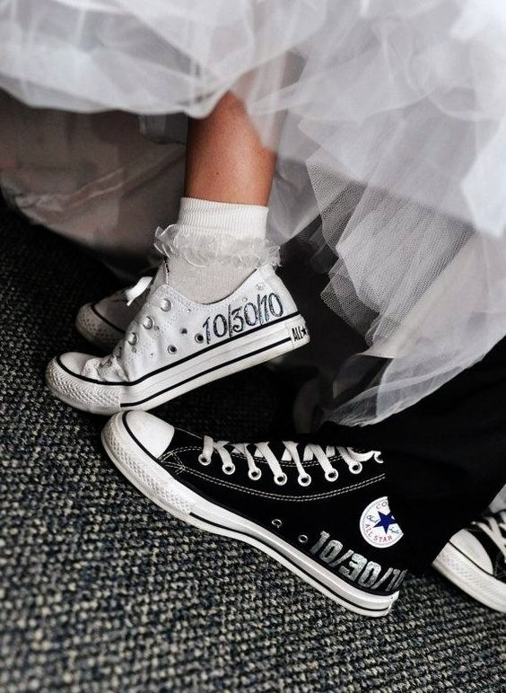 sneakers customisées mariage