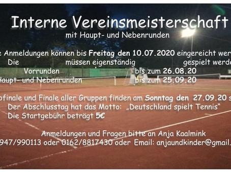 Interne Vereinsmeisterschaft der Tennisabteilung