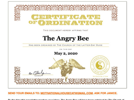 Bee's Bully Pulpit, June 2020