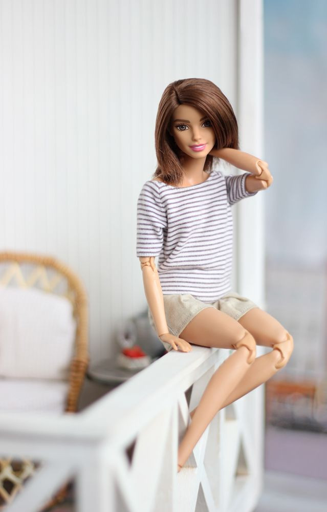 barbie doll posing