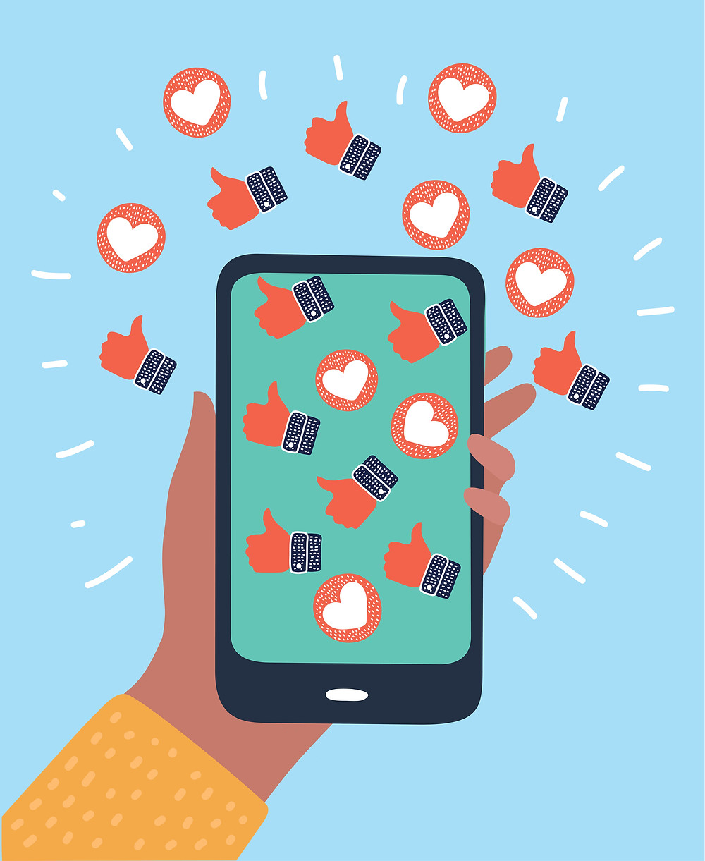 like and love reactions to social media post - instagram tips for marketing