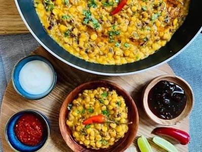 ACHARI CHANA DAL (Split Gram Lentil & Pickle Curry - Vegan)