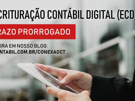 Prorrogação do prazo de apresentação da Escrituração Contábil Digital (ECD)
