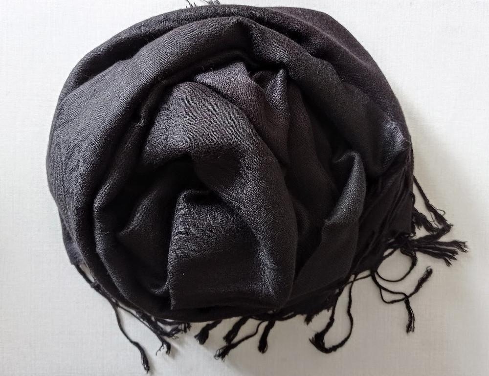 5 shekel black pashmina