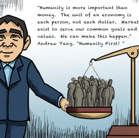 Andrew Yang Political Cartoon