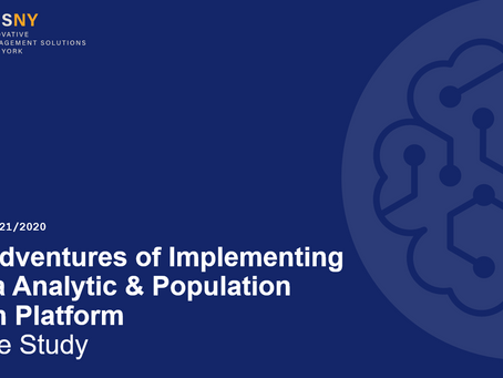 6-Presentation - The Adventures of Implementing a Data Analytic and Population Health Platform