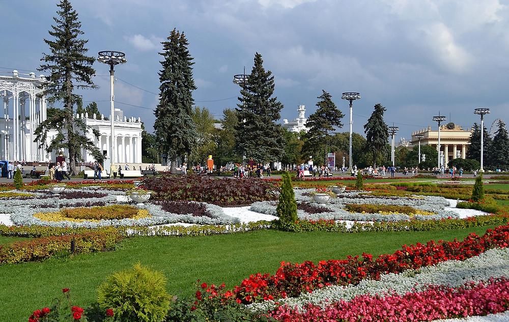 واحدة من اهم حدائق مدينة موسكو
