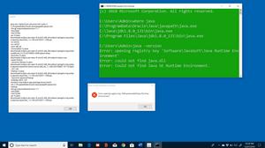 Error: Registry key 'Software\JavaSoft\Java Runtime Environment'