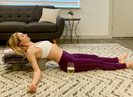 Stretches for watching TV & sipping wine