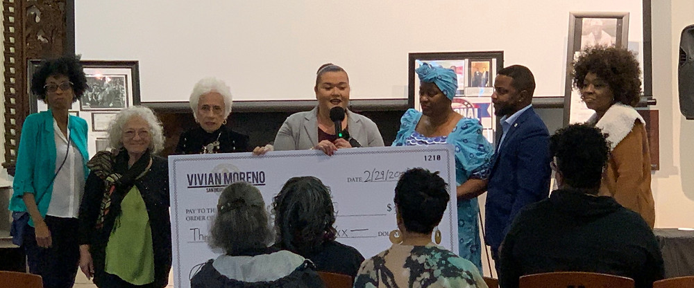 Councilmember Moreno provided The Friends of Logan Heights Library with CPPS funds for a sponsorship that went towards Dennis Biddle's marvelous Negro League exhibition.