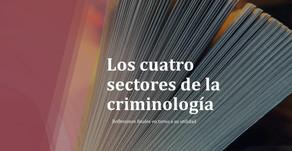 Los 4 sectores de la criminología