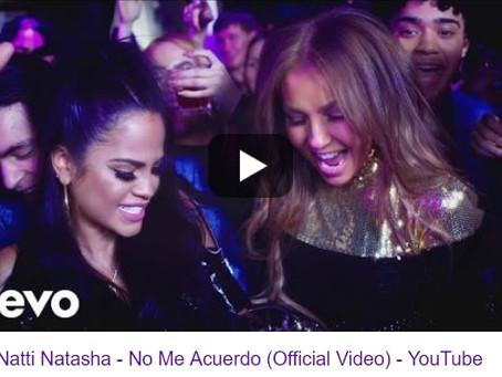 """Thalía y Natti Natasha cantan """"No me acuerdo"""""""