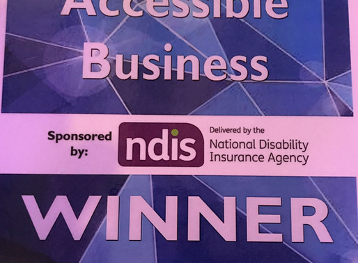 """Winners of the 2017 """"Best Accessible Business"""" Award, Sponsored by the NDIS."""