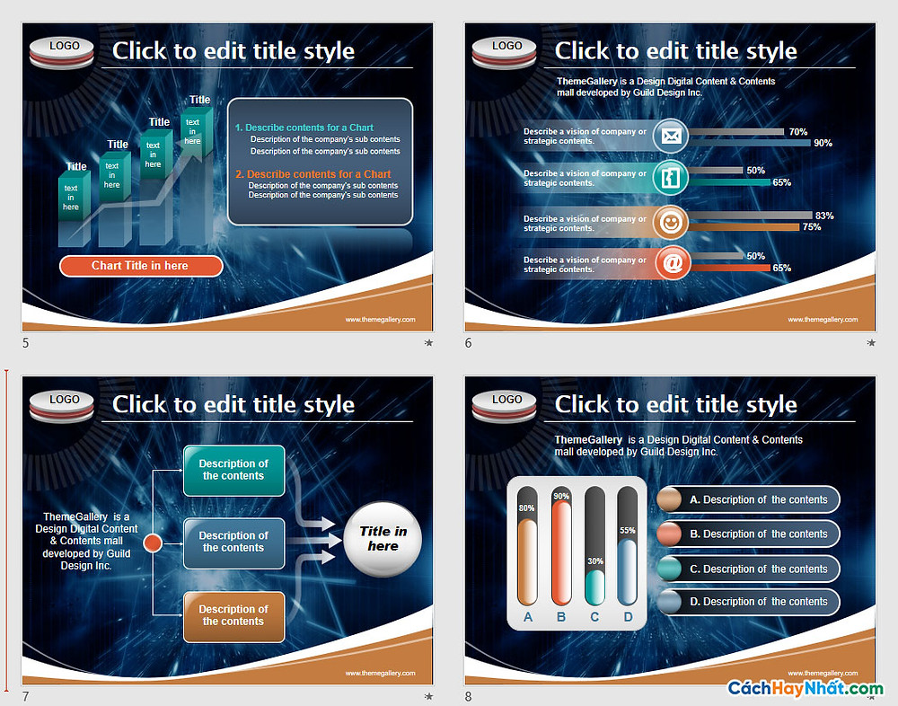 PowerPoint Template 445TGp_tech_dark_ani